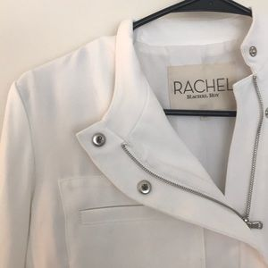 NWT Rachel Roy white moto jacket